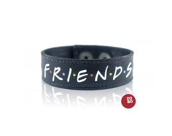 Friends TV Show Fan Bracelet, Friends TV Show Jewelry, F.R.I.E.N.D.S. Bracelet, Mens Bracelet, Gift for Her, Gift for Him, Friendship Charm