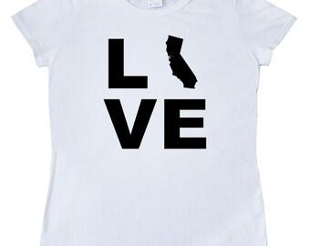 Love California Women's T-Shirt by Inktastic