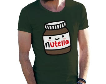 Nutella Jar Happy And Shy T-Shirt for Men Cool Gift