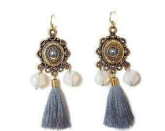 Gold Tassel Earrings - Long Tassel Earrings - Long Gold Earrings - Boho Tassel Earrings - Long Boho Earrings - Gold Boho Earrings