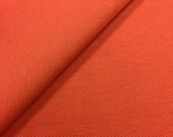 Cotton Pique Knit Fabric with Spandex (Wholesale Price Available By the Bolt) USA Made High Quality - 7266C Dk Mango -1 Yard