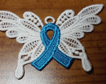 Ovarian cancer awareness ornament