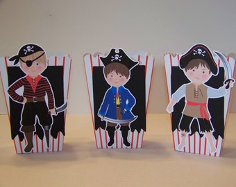 Pirate theme popcorn treat boxes