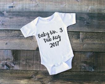 Pregnancy announcement, baby vest, baby bodysuit, romper