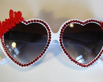 Barbie Sweetheart White Sunglasses Accessory Sunnies Cute Kawaii Lolita Retro by Cutie Dynamite