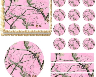 Pink camo decor | Etsy