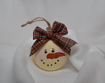 Snowman Christmas Tree Ornament, Christmas Tree Decor, Snowman Decor, Holiday Decor