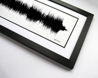 No Rain - Sound Wave Wall Art Print Design