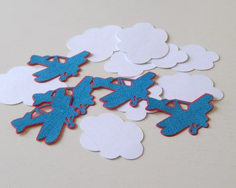 Airplane Confetti, Airplane Party Decor, Happy Birthday, Airplane Baby Shower Decoration, Table Confetti