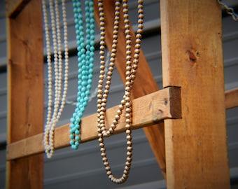 long bead necklace, Extra long bead necklace, double wrap necklace, long neckace, boho jewelry, boho necklace, western necklace, stone