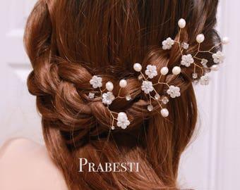 Bridal Hair Pins - Cherry Blossoms Hair Pins Set- Made to Order