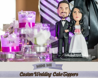 Custom Wedding Cake Toppers - This listing includes the Bride and Groom