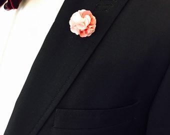 Blush Lapel Pin, Wedding Lapel Pin, Mens Lapel Pin, Custom Lapel Pin, Flower Lapel Pin, Boutonniere