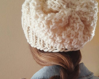 Hand Knit Slouchy Beanie - Pick Your Color