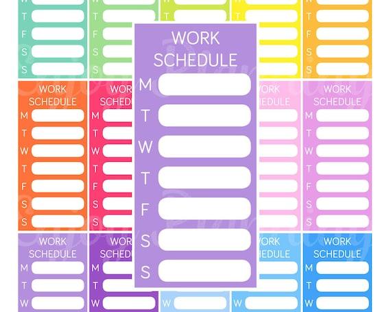 work schedule planner
