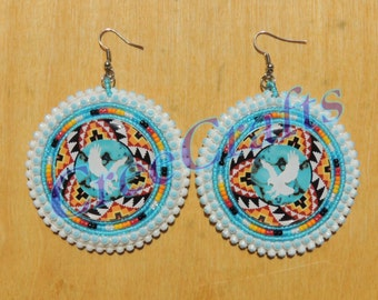 Beaded Native Earrings
