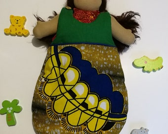 Cotton wax doll sleeping bag