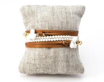 Pyrite Necklace, Pyrite Wrap Bracelet, Gold Wrap Bracelet, Adjustable Necklace, Gold Necklace, Gold Bracelet, Leather Bracelet, Fools Gold