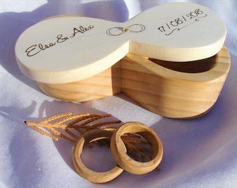 Porta alianzas, símbolo infinito, porta alianzas infinito, Infinite ring box, porta alianzas personalizado, custom wedding ring box