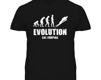 Born To Jump Evolution Ski Jumping T Shirt