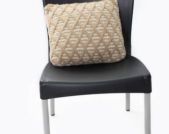 Lattice Cushion Cover Knitting Pattern - Home Decor Knitting Pattern