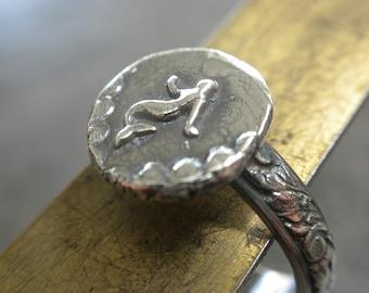 Mermaid Jewelry Unique Silver Ring Tween Gift