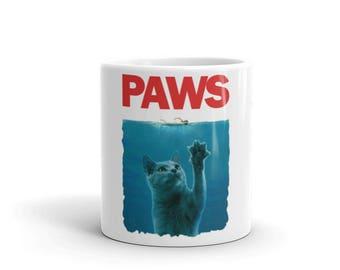 Paws Kitten Funny Parody Mug