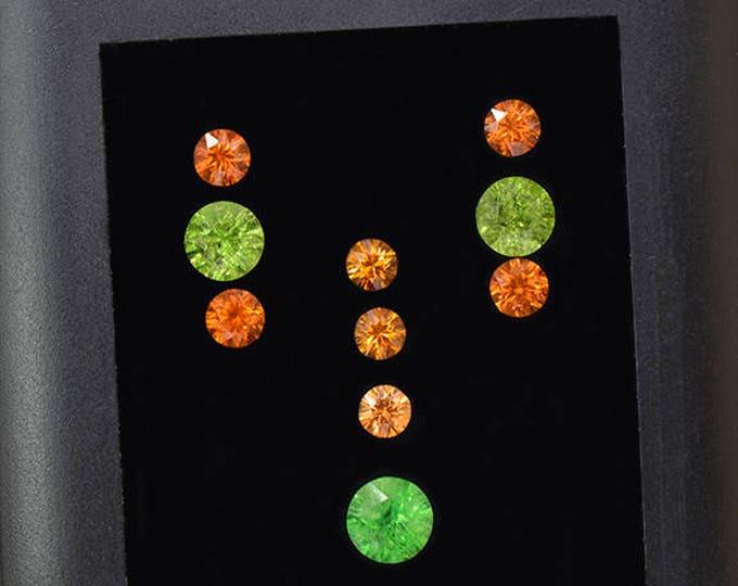 Stunning Grossular and Spessartine Garnet Gemstone Set 6.73 tcw.