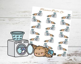 Sloth Planner Stickers // Laundry // Housework // 057