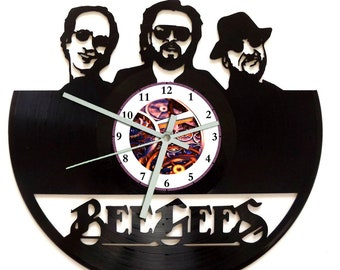 Bee Gees Vinyl Record Wall Clock
