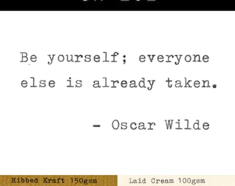 Real Typewriter – Oscar Wilde Quotes – Part 1