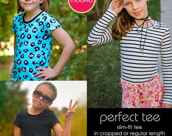 Perfect Tee Girls PDF Downloadable Pattern by MODKID... sizes 2T to 8/9 Girls included - Instant Download