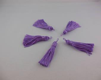 Tassel has lilac color rayon thread