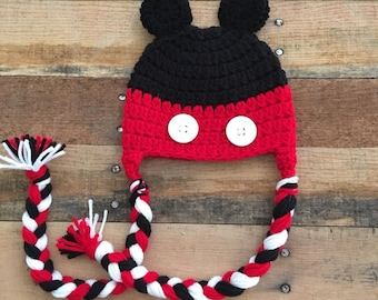 Mickey Ear Flap Hat