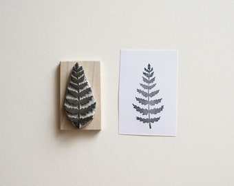 Fern - Hand Carved Rubber Stamp