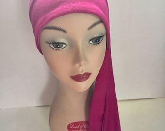 Pink Knit Sidetie HerHat