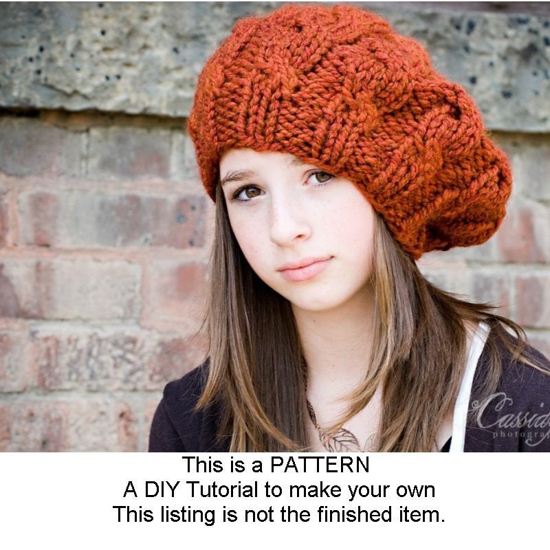 Attractive Beret Pattern Knit Collection - Blanket Knitting Pattern ...