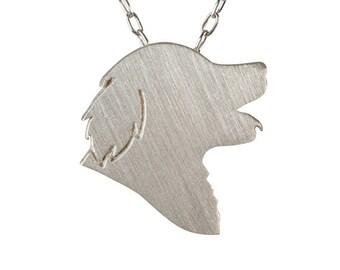 Golden Retriever necklace, Golden Retriever charm, Golden Retriever jewelry - Sterling Silver dog necklace, dog charm pet memorial gift