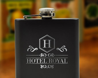 6oz. Black Stainless Steel Flask