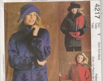 Jacket Pattern Raglan Sleeves Unlined, Hat Misses Size XS - S - M 4 - 6 - 8 -10 - 12 - 14 uncut McCalls 4217