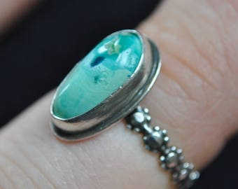 Mystic Sage Daisy Ring Size 5