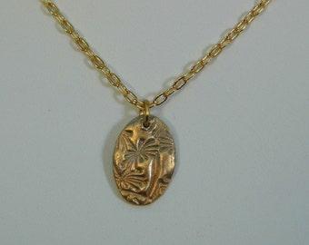 Brass Dandelion Pendant