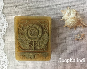 sun flower soap natural soap PALM FREE SOAP vegan soap Gift Soap sls free organic soap coconut soap sunflower soap flower gift for her