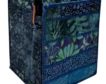 Home Storage Organizer in Aqua Blue Batiks
