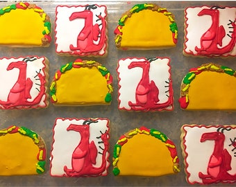 Dragons Love Tacos Cookies