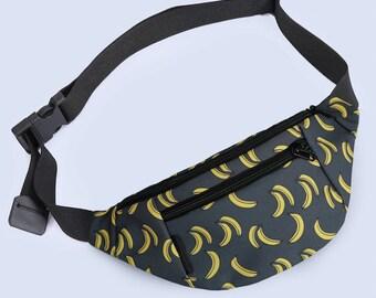 Banana Fanny pack men,Banana Hip pack,Hip belt pack ,Convertible Bag,Pocket Belt bag,Gift belt bag,Hip Bum bag pack,Holster Handbag pack
