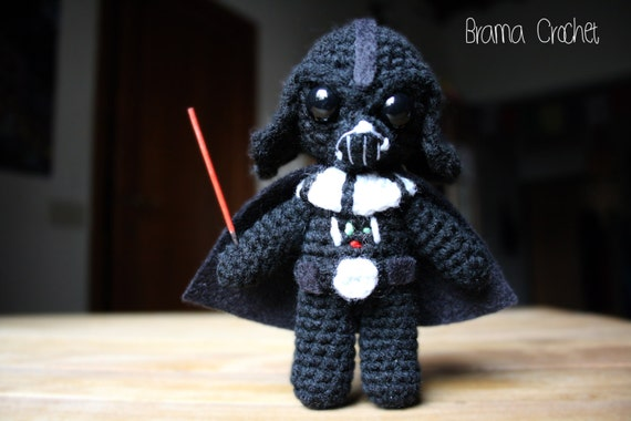 Amigurumi Star Wars : Darth vader star wars amigurumi doll handmade crochet toy