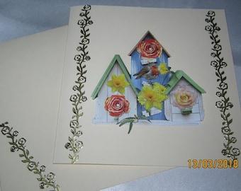 Greeting card and matching envelope
