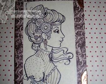 Lady steampunk notebook