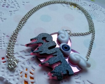 Super drippy CUTE heart necklace - Creepy Cute, Pastel Goth